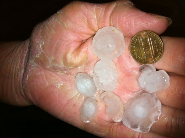 "<div class=""meta ""><span class=""caption-text "">A strong thunderstorm dumped parts of the Triangle with heavy rains and hail Tuesday evening. (Robert/WTVD)</span></div>"